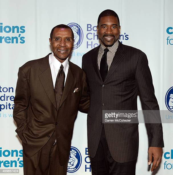 Former Celtics players Jo Jo White and Leon Powe attend Champions for Children's Gala at Seaport World Trade Center benefitting Boston Children's...