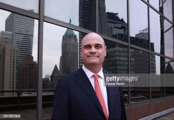 Former CEO of AIG Peter Hancock is photographed for the Financial Times on July 14 2014 at the AIG headquarters in New York City PUBLISHED IMAGE