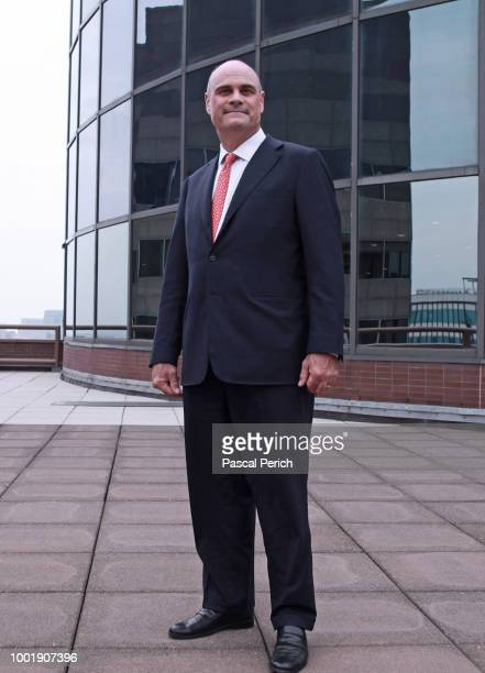 Former CEO of AIG Peter Hancock is photographed for the Financial Times on July 14 2014 at the AIG headquarters in New York City