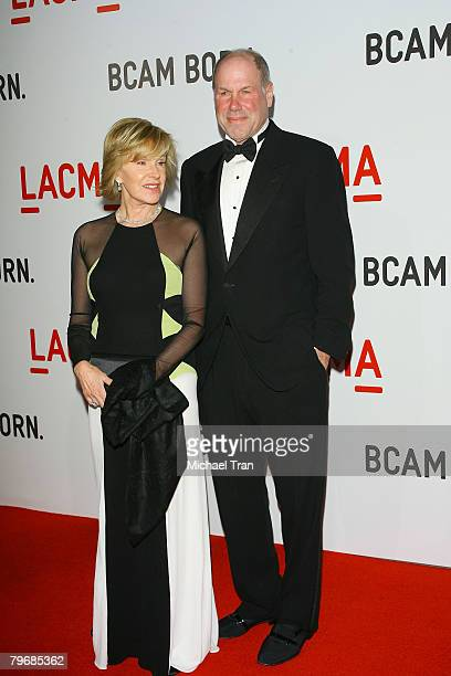 Former CEO of Walt Disney Michael Eisner and wife Jane Breckenridge arrives at the opening celebration of the Broad Contemporary Art Museum at held...