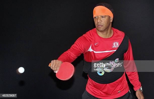 Former CFL Quarterback Damon Allen competes in The 2nd Annual Raonic Race For Kids Fundraiser Benefitting The Milos Raonic Foundation on November 19...