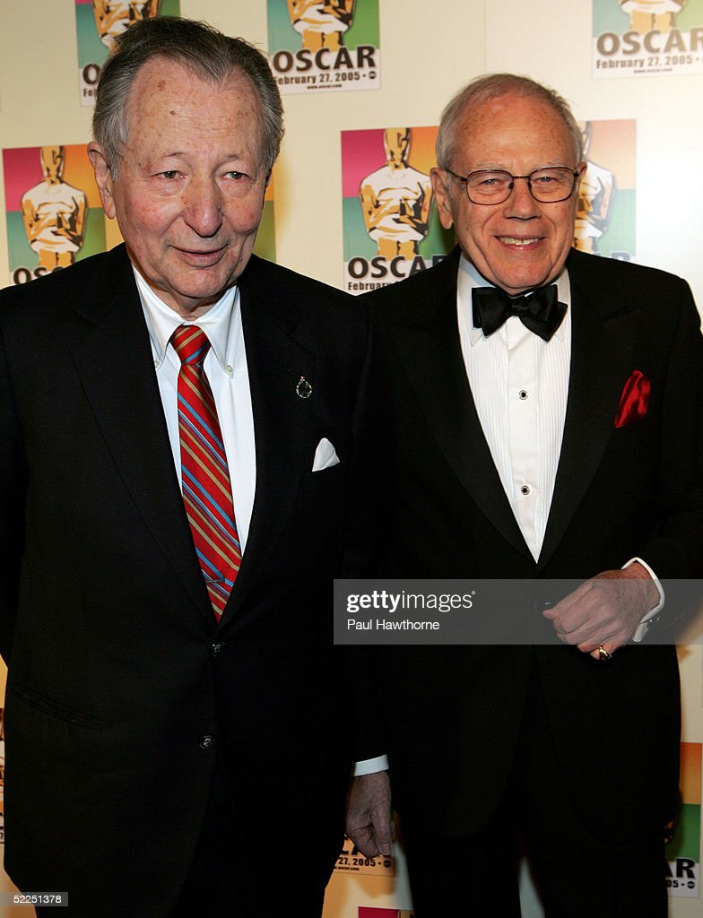 Former Chair of the Academy's New York Events committee Arthur Manson (L) and Composer Sid Ramin attend the official New York celebration of the Academy Awards at Gabriel's February 27, 2005 in New York City.