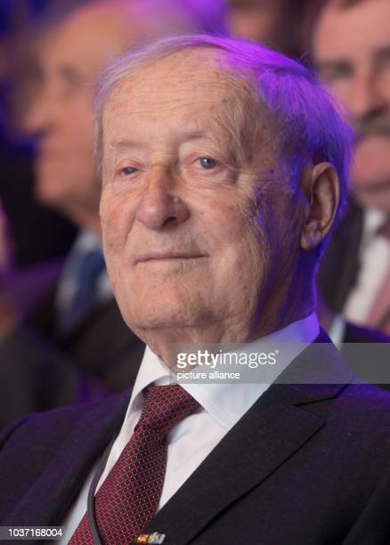 Former chairman Eberhard von Kuenheim photographed during a ceremonial act at the BMW manufactory in Dingolfing Germany 12 January 2017 The...