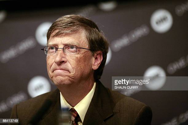 Former Chairman of Microsoft and co-founder of the Bill and Melinda Gates Foundation Bill Gates is pictured during the launch of ONE�s 2009 DATA...