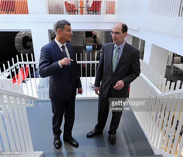 Former Chairman of President Obama's Council of Economic Advisers Alan Krueger and Senior Vice President at GLG Andrew Gordon visit Gerson Lehrman...