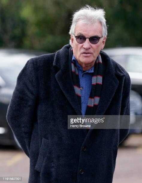 Former chairman of Saracens Nigel Wray arrives before the Gallagher Premiership Rugby match between Saracens and Worcester Warriors at Allianz Park...