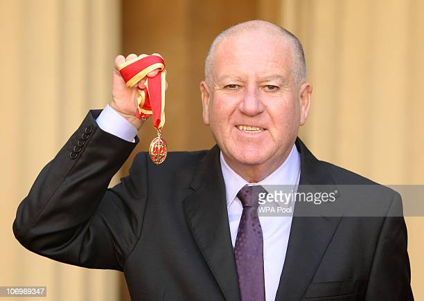 Former Chairman of Sunderland Football Club Sir Bob Murray after receiving his Knighthood from the Prince of Wales at an investiture ceremony at...