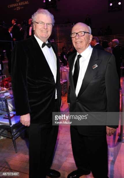 Former chairman president and CEO of Sony Corporation Howard Stringer and Rupert Murdoch attend the TIME 100 Gala TIME's 100 most influential people...