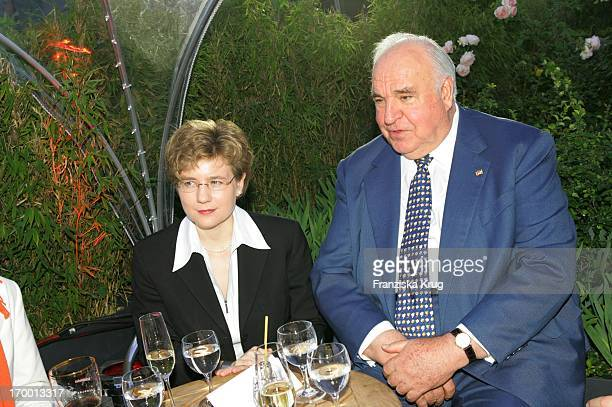Former Chancellor Helmut Kohl and his new partner Maike Richter BILD Summer Fesitival In Berlin On 280605