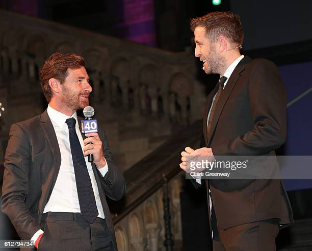 Former Chelsea and Tottenham Hotspur manager Andre VillasBoas is interviewed by host Mark Chapman at the Leaders Under 40 Awards at the Natural...