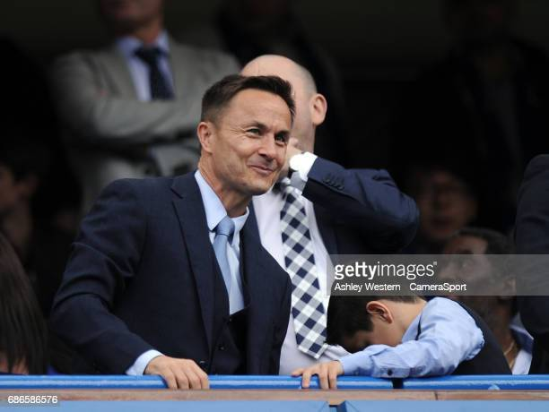 Former Chelsea captain Dennis Wise during the Premier League match between Chelsea and Sunderland at Stamford Bridge on May 21 2017 in London England