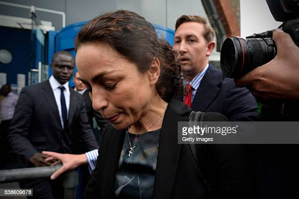 Former Chelsea football club doctor Eva Carneiro leaves Croydon Employment Tribunal after agreeing a settlement in a case against former manager Jose...