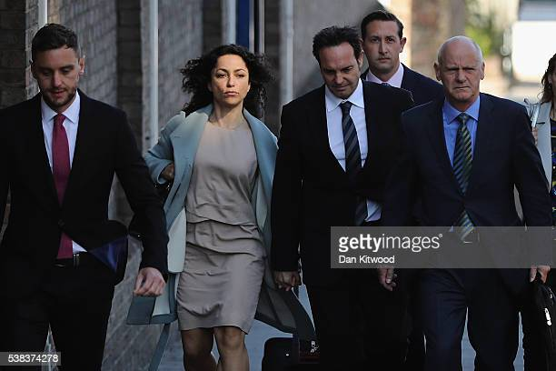 Former Chelsea Football club firstteam doctor Eva Carneiro arrives at Croydon Employment Tribunal to attend a private hearing in her constructive...