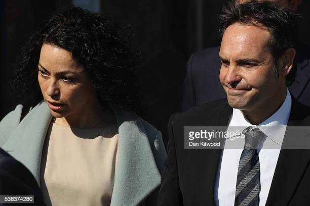 Former Chelsea Football club firstteam doctor Eva Carneiro arrives at Croydon Employment Tribunal with her husband to attend a private hearing in her...