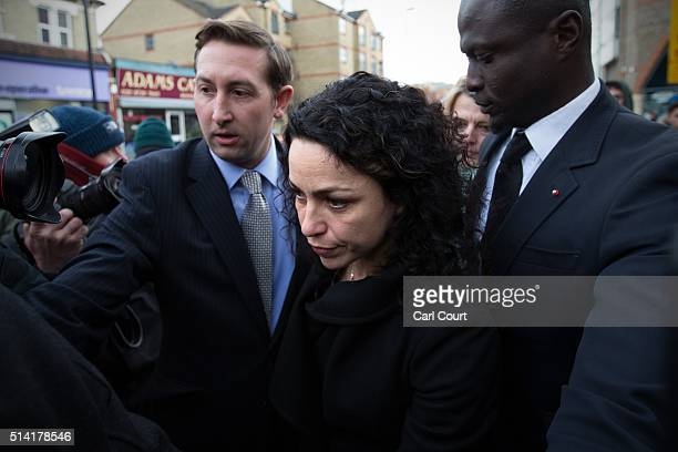 Former Chelsea Football club firstteam doctor Eva Carneiro leaves Croydon Employment Tribunal after attending a private hearing in her constructive...