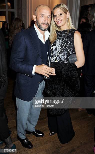 Former Chelsea player Gianluca Vialli and wife Cathryn Copper attend the Faberge Big Egg Hunt Champagne Countdown party at Quintessentially on...
