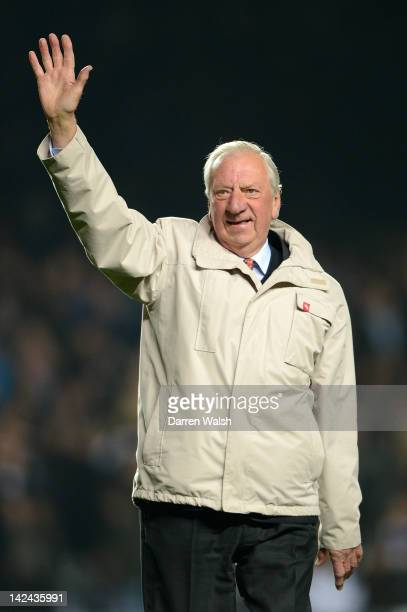 Former Chelsea player John Mortimer is introduced to the fans at half time during the UEFA Champions League Quarter Final second leg match between...