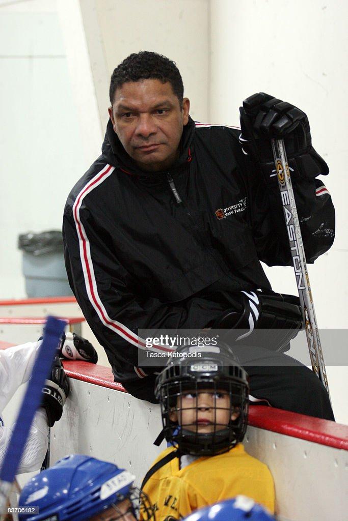 Former Chicago Blackhawk Tony McKegney at the AHAI Team Clinic November 15, 2008 in Glen Ellyn, Illinois.