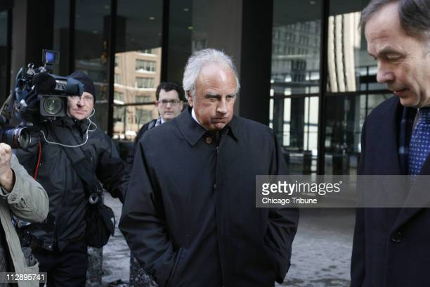 Former Chicago SunTimes publisher David Radler and his attorney Anton Valukas right leave the Dirksen US Courthouse after his sentencing for mail...