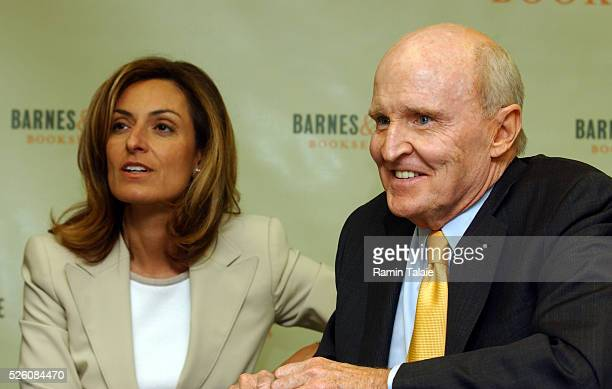 Former Chief Executive Officer of General Electric Jack Welch and his wife Suzy share a moment prior to promotion for his new book Winning at a...