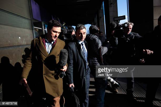 Former chief executive Richard Howson leaves after appearing in front of the Work and Pensions select committee at Portcullis House on February 6...