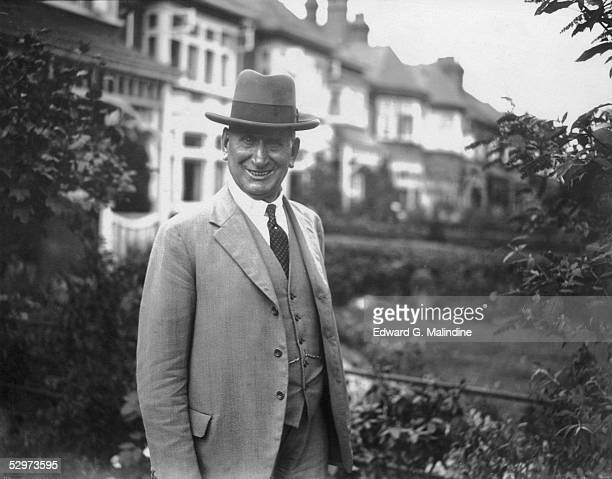 Former Chief Inspector Wensley in the garden of his home in Palmers Green shortly after his retirement from Scotland Yard 3rd September 1929...