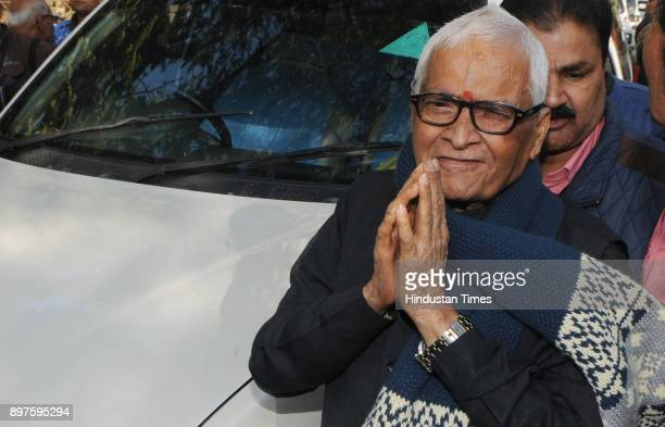 Former Chief Minister of Bihar Jagannath Mishra in happy mood after he was released in the case of Fodder Scam at Civil Court premises on December 23...