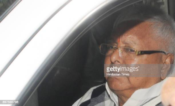 Former Chief Minister of Bihar Lalu Prasad Yadav proceeding to appear before a special CBI court in a connection to the Fodder Scam case at Court...
