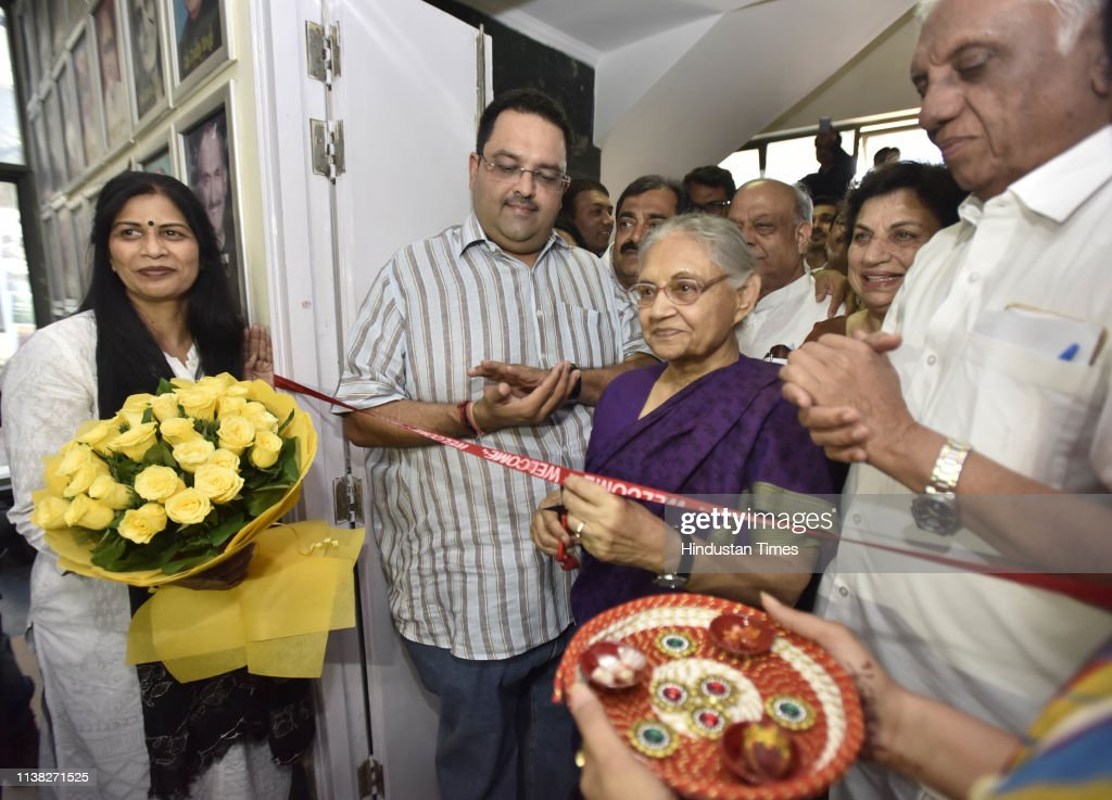IND: DPCC President Sheila Dikshit Inaugurates Control Room For Ls Polls Campaign At DPCC Office