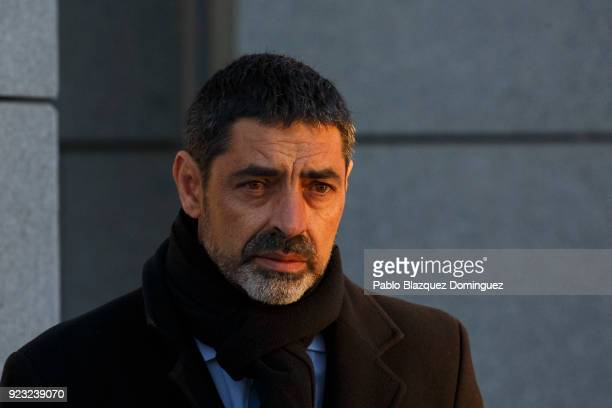 Former Chief of Catalan Police Mossos d'Esquadra Josep Lluis Trapero arrives at Spain's National High Court on February 23 2018 in Madrid Spain Judge...