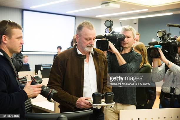 CORRECTION Former chief of special operations for the Oslo Police Eirik Jensen arrives in court in Oslo on January 9 2017 Jensen is charged with...