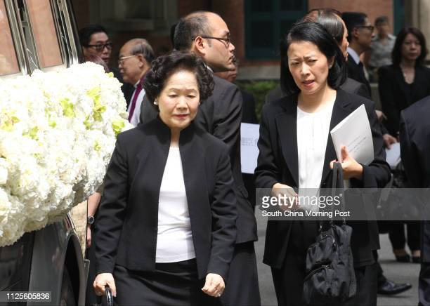 Former Chief Secretary Chan Fang Onsang attends the funeral of late gastroenterology and haepatology specialist Dr Wayne Hu Hsingcheng who died in a...