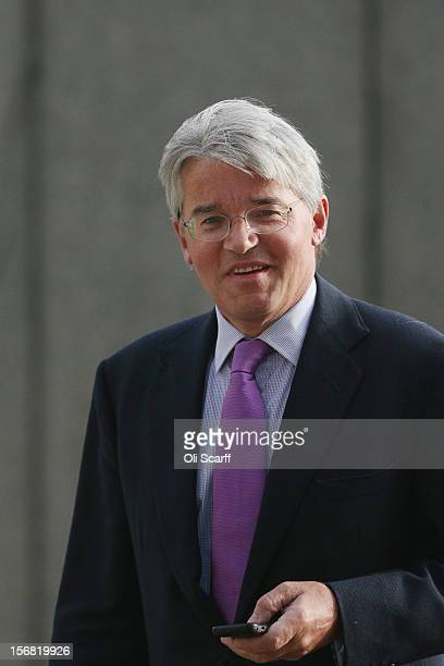 Former Chief Whip Andrew Mitchell walks through Westminster on November 22 2012 in London England Conservative MP Nadine Dorries who has been...