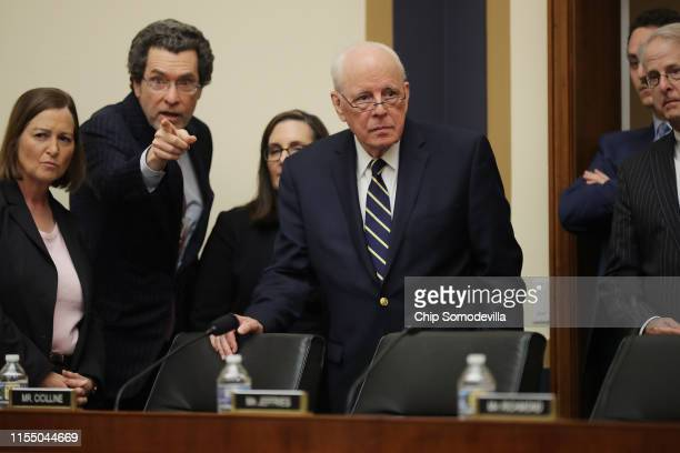 Former Chief White House Counsel John Dean arrives to testify about the Mueller Report before the House Judiciary Committee in the Rayburn House...