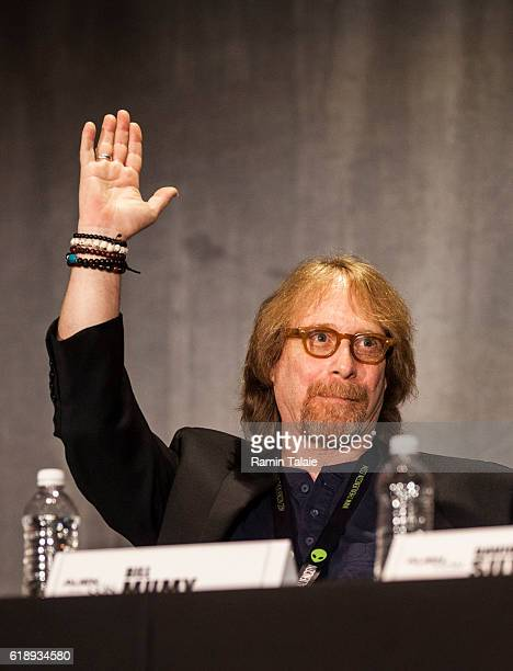 Former child actor Bill Mumy speaks at Alien Con 2016 during a panel discussion on October 28 2016 in Santa Clara California