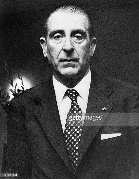 Former Chilean President Eduardo Frei Montalva poses for the photographer during a visit in Brussels 09 June 1971 Chilean officials on dECEMBER 07...