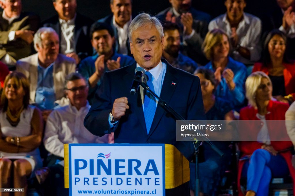 Sebastián Piñera Presidential Campaign : News Photo