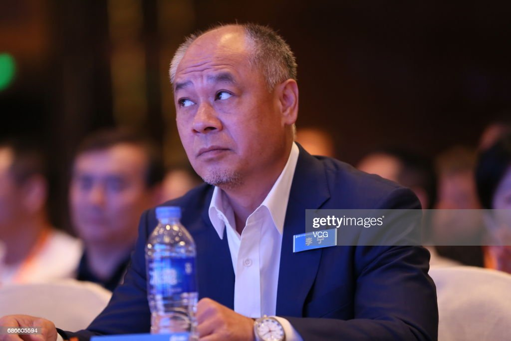 Former Chinese gymnast Li Ning attends a sports summit on May 22, 2017 in Shanghai, China.