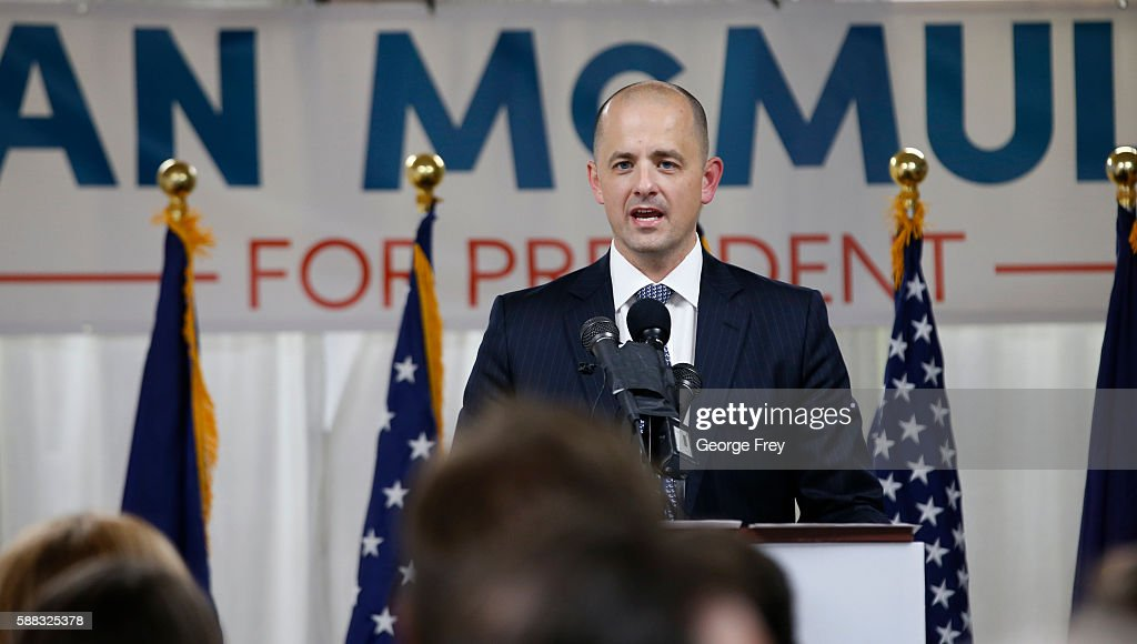 Former CIA Agent Evan McMullin Launches Presidential Campaign In Salt Lake City : News Photo