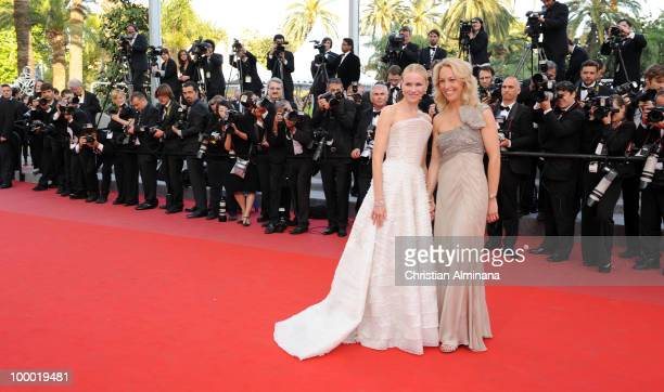 Former CIA agent Valerie Plame and Actress Naomi Watts attends the 'Fair Game' Premiere held at the Palais des Festivals during the 63rd Annual...