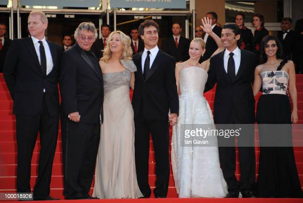 Former CIA agent Valerie Plame director Doug Liman actress Naomi Watts and actor Khaled Nabawy actress Liraz Charhi attend the 'Fair Game' Premiere...