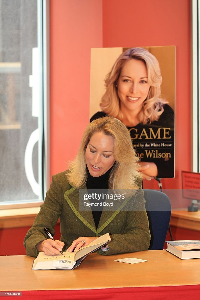 Former CIA agent Valerie Plame Wilson held a discussion and book signing for her book, 'Fair Game: My Life As A Spy, My Betrayal by the White House' at Borders Books and Music in Chicago on November 12, 2007.