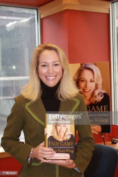 Former CIA agent Valerie Plame Wilson held a discussion and book signing for her book Fair Game My Life As A Spy My Betrayal by the White House at...
