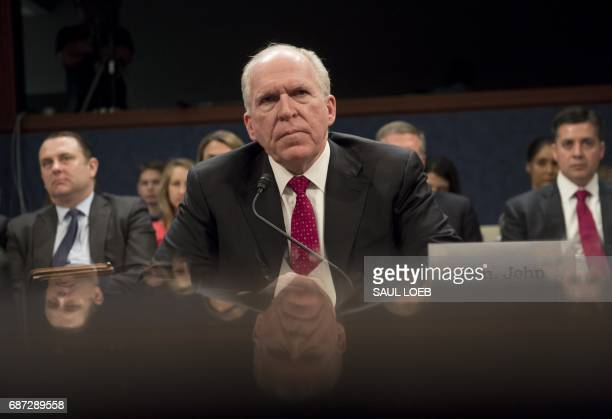 Former CIA Director John Brennan testifies during a House Permanent Select Committee on Intelligence hearing about Russian actions during the 2016...