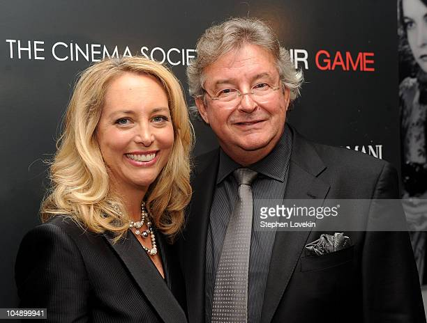 Former CIA officer Valerie Plame Wilson and former ambassador Joseph Wilson attend the screening of Fair Game hosted by Giorgio Armani The Cinema...