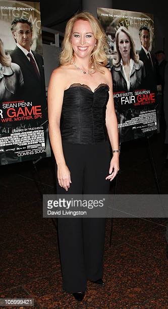 Former CIA officer Valerie Plame Wilson attends a special screening of Summit Entertainment's Fair Game at the Museum of Tolerance on October 24 2010...