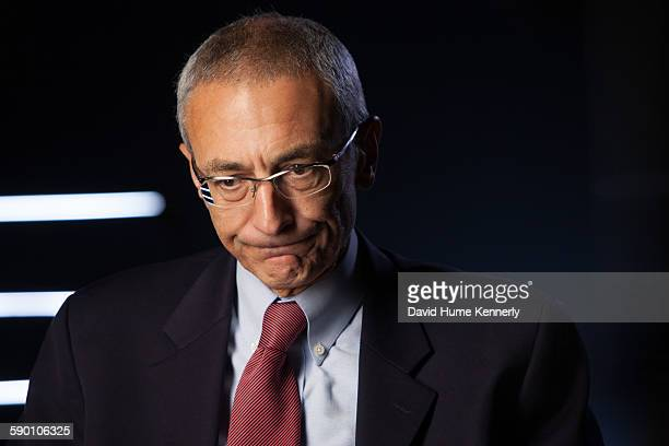 Former Clinton White House Chief of Staff John Podesta being interviewed for Discovery Channel's The President's Gatekeepers November 9 in Washington...
