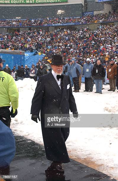 Former coach and commentator Don Cherry attends the NHL Winter Classic between the Buffalo Sabres and the Pittsburgh Penguins at the Ralph Wilson...