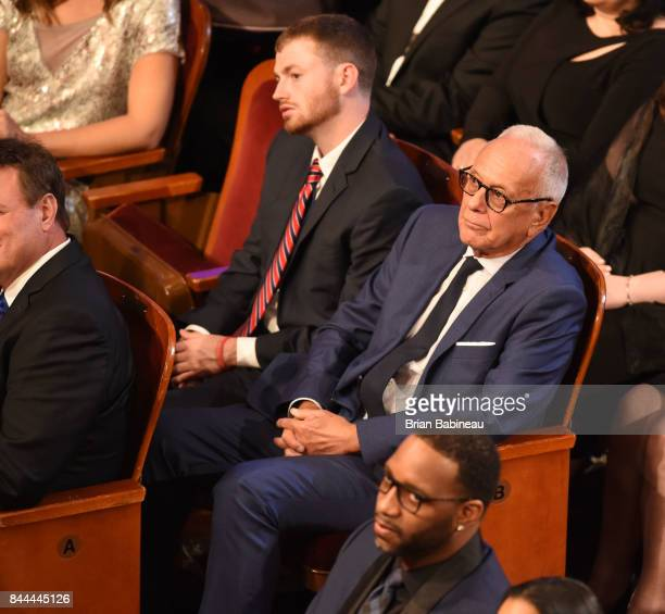 Former coach Larry Brown looks on during the 2017 Basketball Hall of Fame Enshrinement Ceremony on September 8 2017 at the Naismith Memorial...