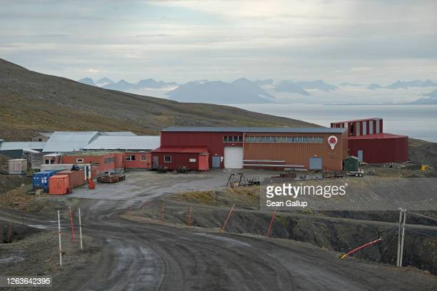 Former coal mine number 3 which is home to the Arctic World Archive that will include the GitHub Arctic Code Vault stands on Svalbard archipelago on...